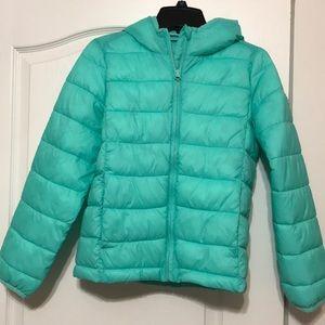 Girls GAP Primaloft puffer jacket - mint green